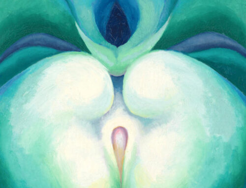 Erotic Afternoons: Viewing White & Blue Flower-O'Keeffe